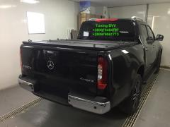 Body cover for Toyota Tacoma pickup truck. Cover on the pickup BVV