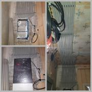 Dust-free electrician services. Dust-free strobes with vacuum cleaner