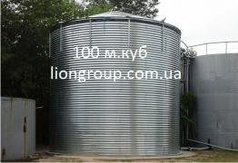 Fire tank 100 cubic meters of water, capacity of 100 m3