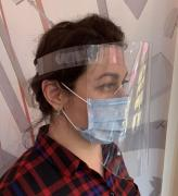 Protective mask screen, plastic
