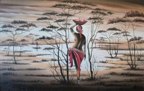 Sell oil painting. Africa. Donna h. 2014. 120$
